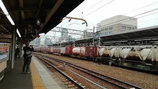到着2分遅れ!。211系K51編成降り返し普通亀山行名古屋13番線到着&EF210 155号機牽引福岡タ発名古屋タ行1064レ名古屋通過