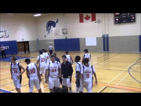 Holy Names Knights @ Massey Mustangs 2015 2016 Senior Boys Basketball Regular Season