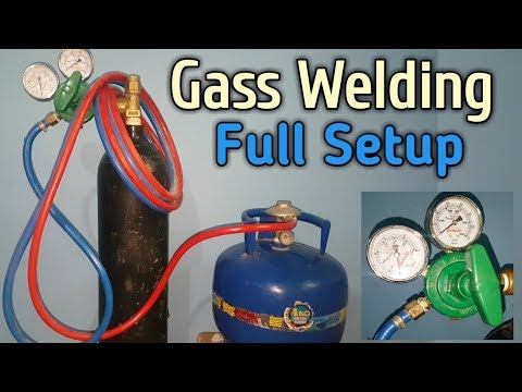 Gas Welding Setup LPG,Oxygen Cylinder Torch Set Review And Function