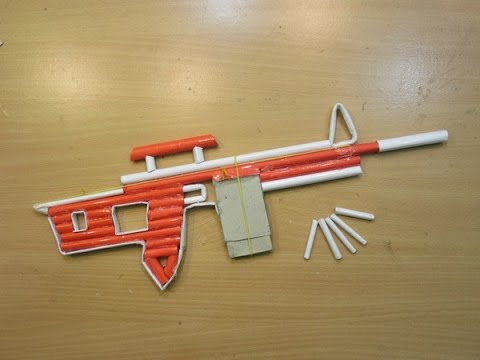 How to Make a Paper Sniper Rifle - (Shoots...