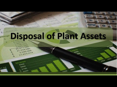 Disposal of Plant Assets by Sale