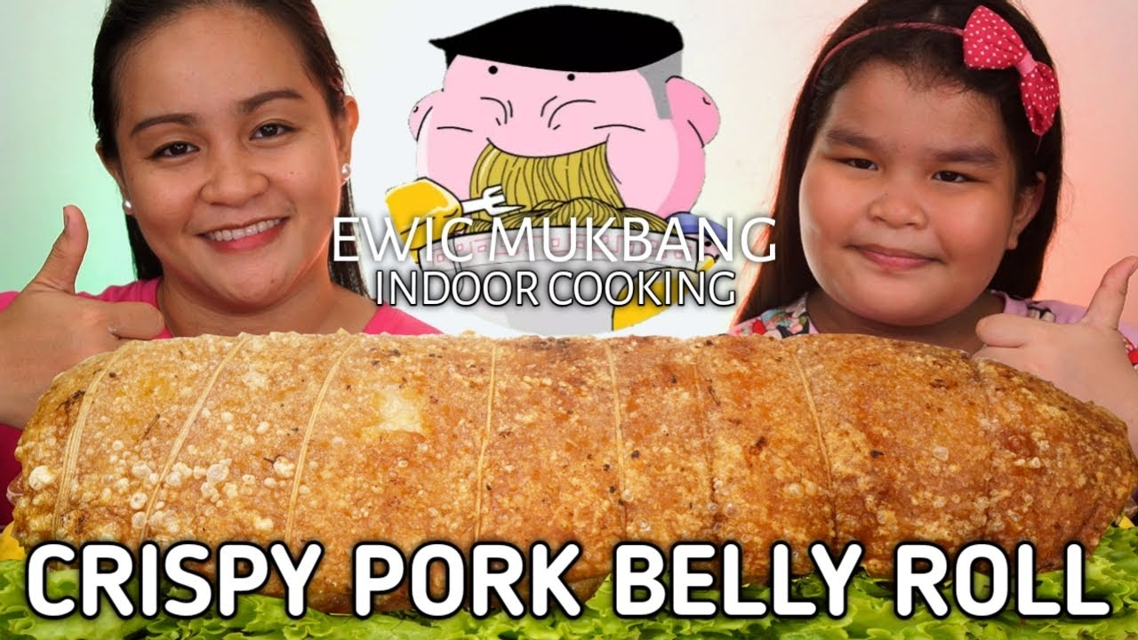 INDOOR COOKING | CRISPY PORK BELLY ROLL Mukbang | Filipino Food Mukbang | Mukbang Philippines