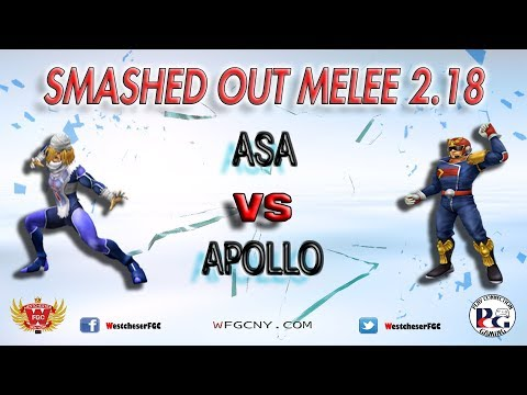 Smashed Out Melee V2.18 - Apollo Vs. Asa - Winners Quarter Finals