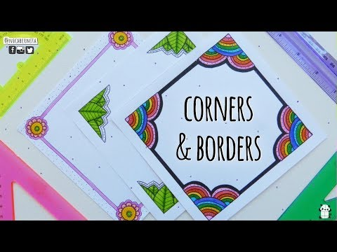 CORNERS & FRAMES ❤ BORDER DESIGNS ON PAPER ❤ BORDER DESIGNS FOR PROJECTS