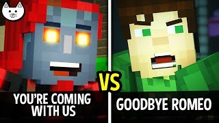 YOU'RE NOT STAYING vs GOODBYE ROMEO - Minecraft Story Mode Season 2 Episode 5 Choices Gameplay