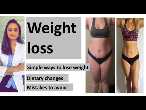 Weight loss | simple steps | diet changes| easy weight loss tips| weight loss mistakes to avoid thumbnail