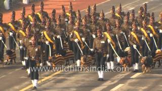 Dogs march alongside: Indian Army marching contingent at Republic Day 2016