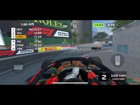F1 mobile racing gameplay - Circuit de Monaco