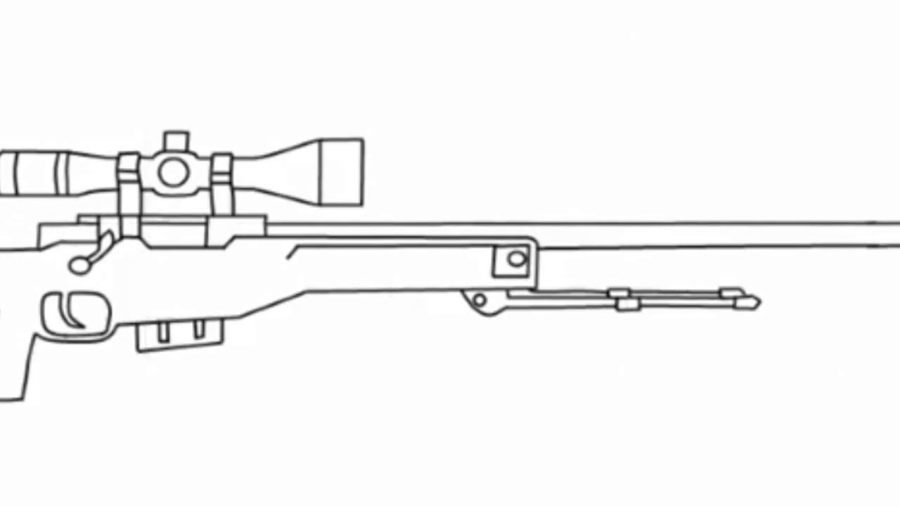 Line Art Photo Cs : How to draw the awp from csgo youtube