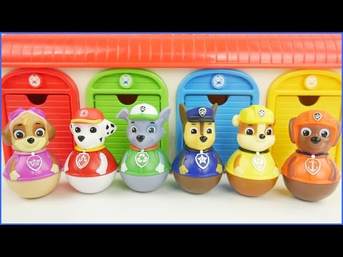 Paw Patrol Weebles Tayo the Little Bus Playset Marshall Rocky Chase Skye Wobble Disney Toys
