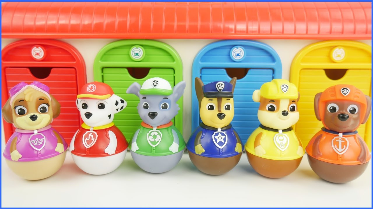 Paw Patrol Weebles And Tayo Bus Garage Youtube