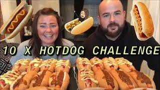 UK MUCKBANG 10 x hotdogs challenge with Kenny