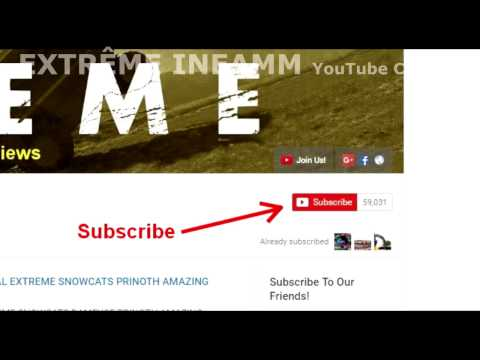 How to receive notifications of news videos from EXTREME INEAMM YouTube Channel !!!