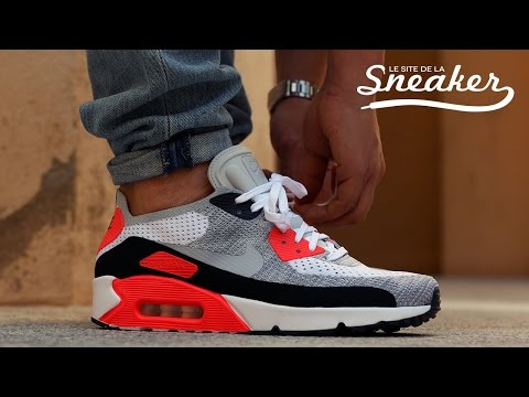 outlet store 86090 906a0 Nike Air Max 90 Ultra 2.0 Flyknit Infrared - Unboxing & On ...