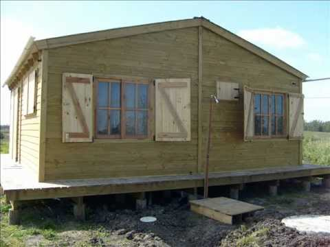 Casas de madera y barro construccion youtube for Construccion casas