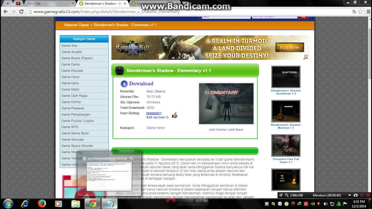 cara mendownload game slenderman gratis   youtube