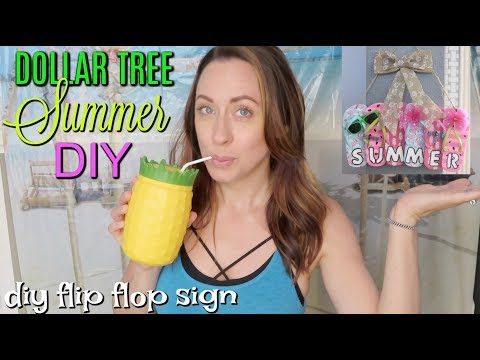 DOLLAR TREE SUMMER DIY// DIY FLIP FLOP SIGN