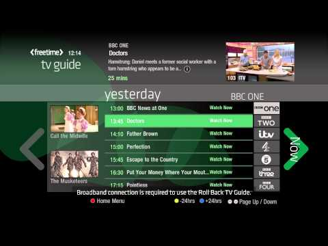 Freetime - the Smart TV Guide from Freesat, now available in new Panasonic VIERA Smart TVs