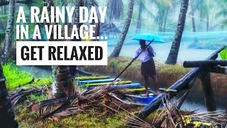 Relaxing with a rainy day | rain at village | kerala