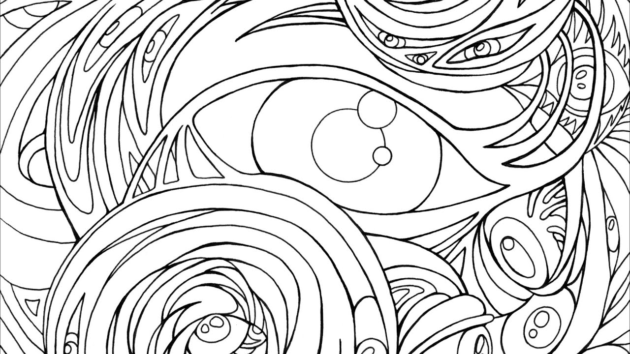 Coloring pages eyes - Making An Adult Coloring Book Surreal Eyes