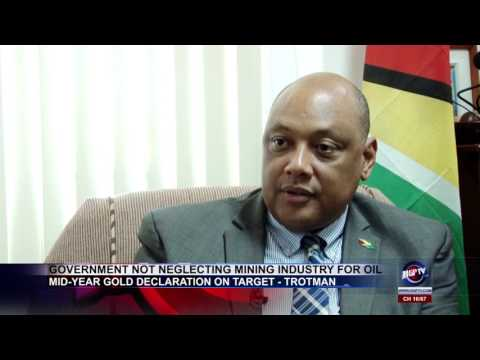 GOVERNMENT NOT NEGLECTING MINING INDUSTRY FOR OIL