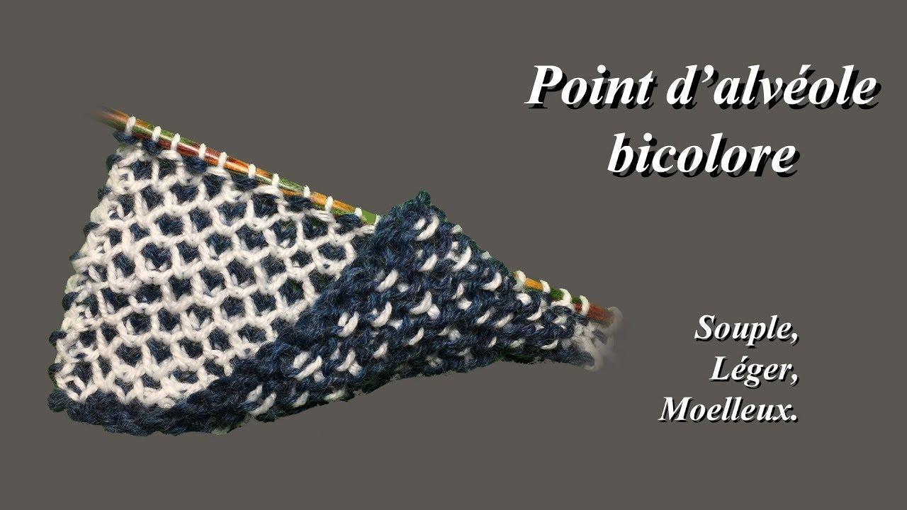 Très Point d'alvéole bicolore : Idéal pour de la layette - YouTube YP79