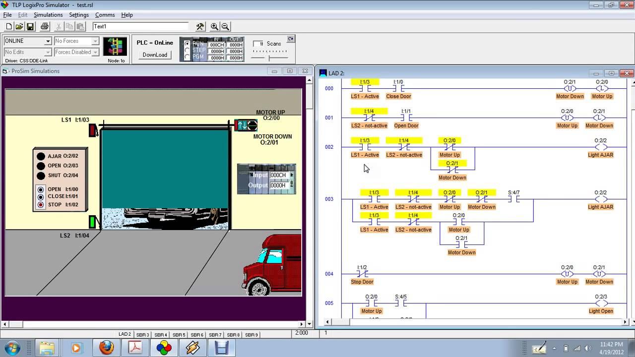 Plc Simulator Simulation Door Exercise 2 Youtube