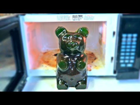 Don't Microwave Giant Gummy Bear!