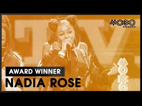 NADIA ROSE  Skwod  BEST  acceptance speech at MOBO Awards    MOBO