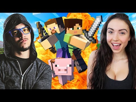 MINECRAFT w/ MY GIRLFRIEND!! (Minecraft #1)