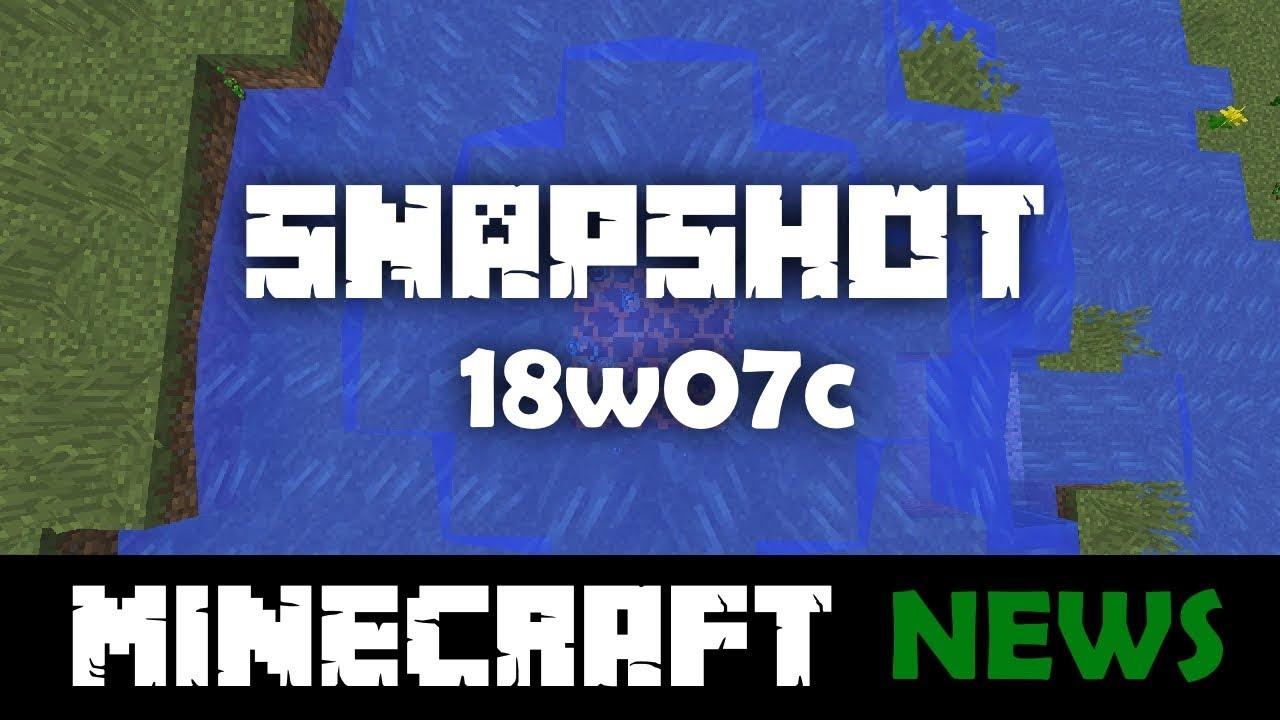 download minecraft 1.13 snapshot 18w07c