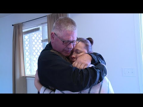 Mississippi woman's emotional reunion with biological father