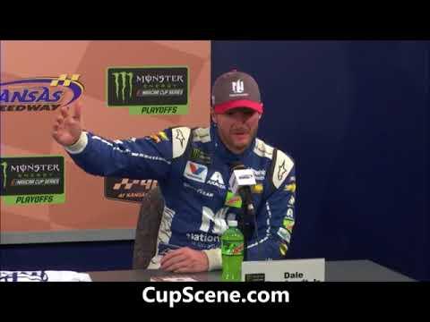 NASCAR at Kansas Speedway, Oct. 2017: Dale Earnhardt Jr. pre-race