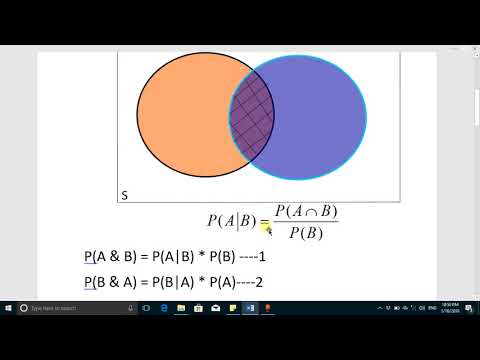 Bayes' Theorem, Conditional Probability and intersection of probability by Online Courses