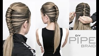 Pipe Braid DIY – Single Infinity Braid - EASY