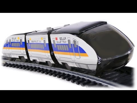 TRAINS FOR CHILDREN VIDEO: Solar Bullet Train, Educational Diy Solar Kit