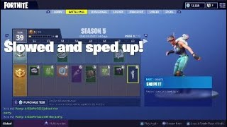 Fortnite | Season 5 battle pass dances Slowed and sped up
