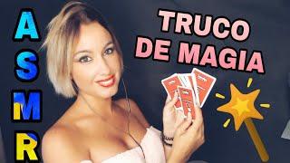 ASMR TRUCO DE MAGIA CARTAS- Susurros, tapping y juego