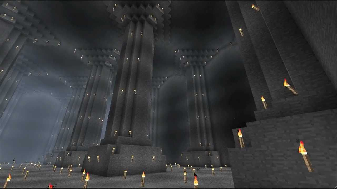 minecraft mines of moria no hacks youtube