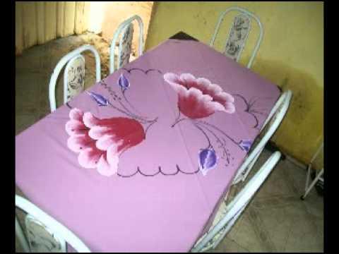 pintura em toalhas de mesa