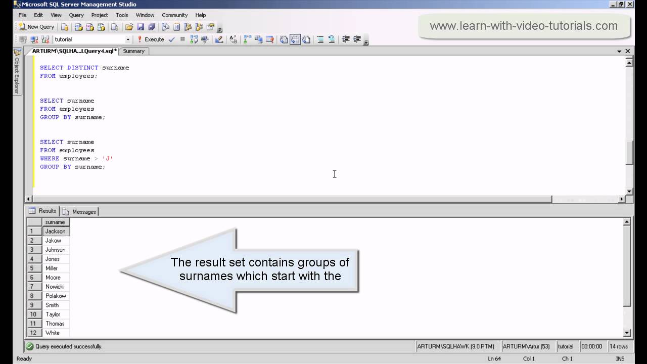 sql tutorial videos This sql basics tutorial video covers the basic keywords in sql by the end of this video, you'll be able to write basic sql queries to retrieve data from a database.