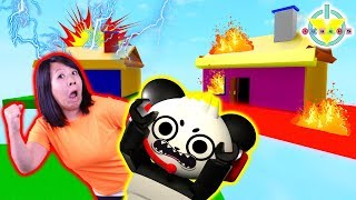 TRAPPED IN A HOUSE IN ROBLOX! Ryan's Mommy Vs. Combo Panda Horrific Housing Roblox Let's Play
