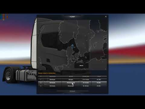Euro Truck Simulator 2 Ferry Bug (Hirtshals - Kristiansand). Version 1.30