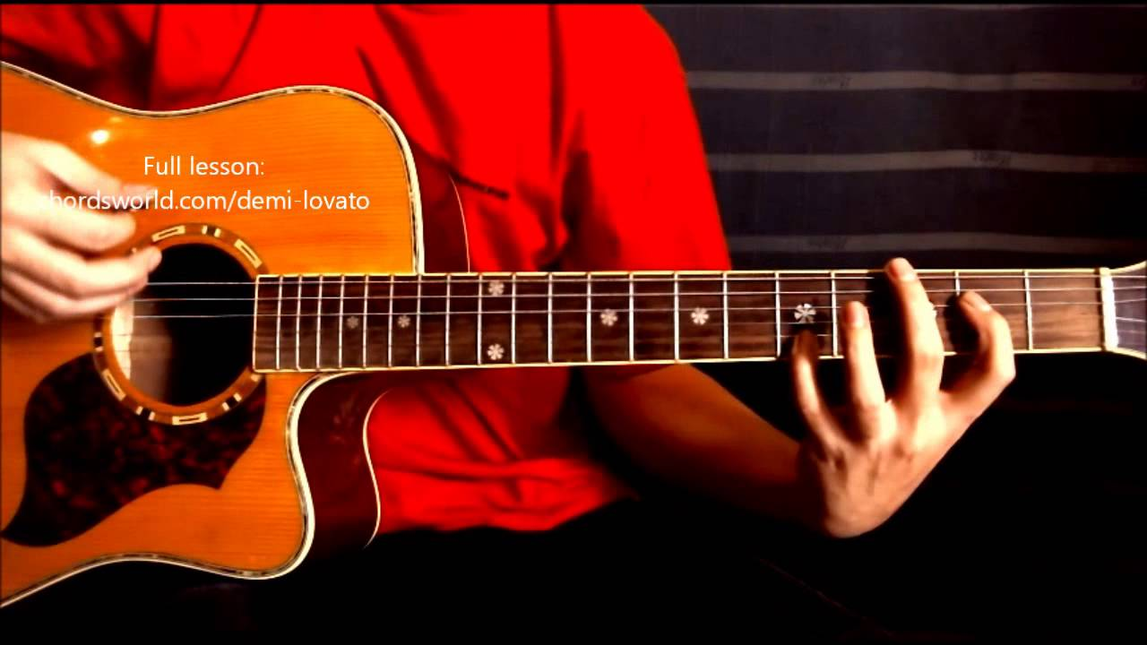 Shouldnt Come Back Chords Demi Lovato Chordsworld Guitar