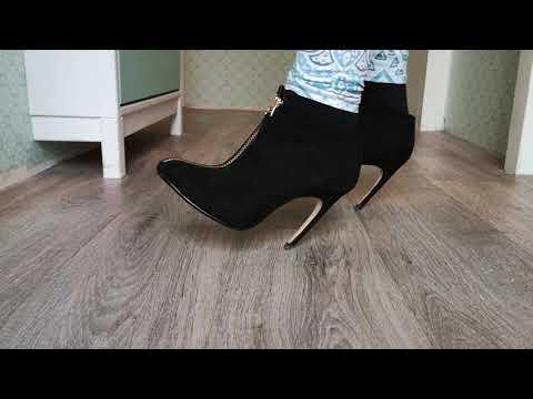 Bending Black Heels