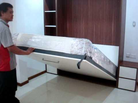 Hidden Bed Wall E Saving Queen 9 Mattress 48kg On Hwb V1530
