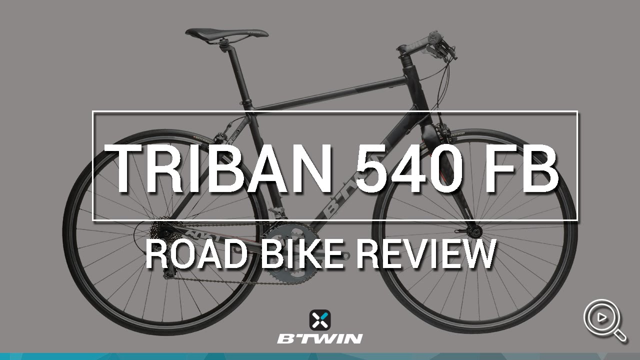 Velo route Triban 540 (cintre droit) B'TWIN // Road bike Triban 540 (flat  bar) - B'TWIN
