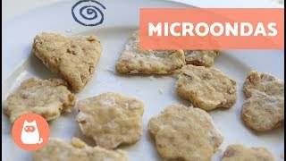 biscoito caseiro para cachorro ou gato no microondas