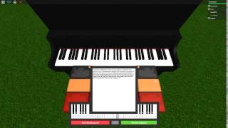 Radioactive - Imagine Dragons on a ROBLOX piano.