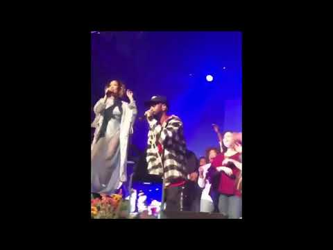 Jhené Aiko performing Moments (live) on stage W/Big Sean #TRIP Tour
